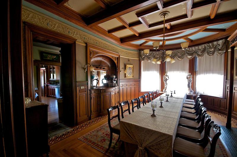 Wiedemann Hill Mansion - wide view of dining area