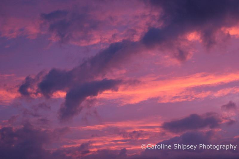 6 mins after sunset, Mendip Hills