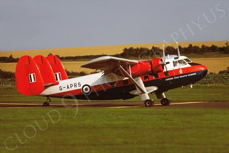 Scottish Aviation Twin Pioneer 00001 Scottish Aviation Twin Pioneer British RAF G-APRS Empire Test Pilot School via African Aviation Slide Service.JPG