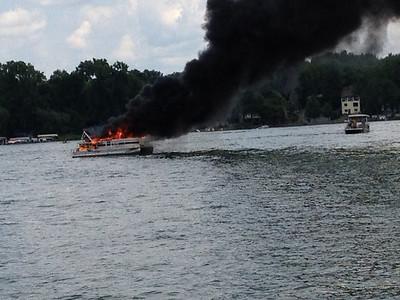 20120708- Conesus Lake Boat Fire