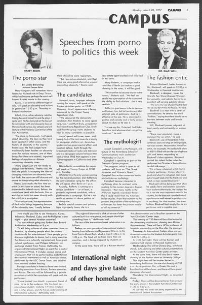 Daily Trojan, Vol. 71, No. 33, March 28, 1977