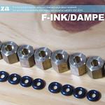 SKU: F-INK/DAMPER/N4, A Set of 8 Copper Lock Nut with O-Ring for Φ4 Ink Damper