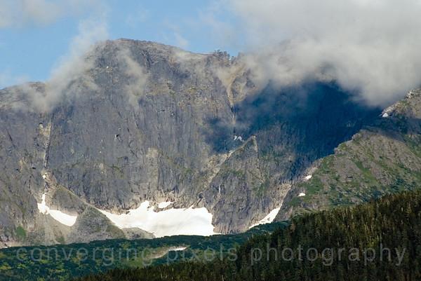 """Mountain with glacier # !"", Alaska."