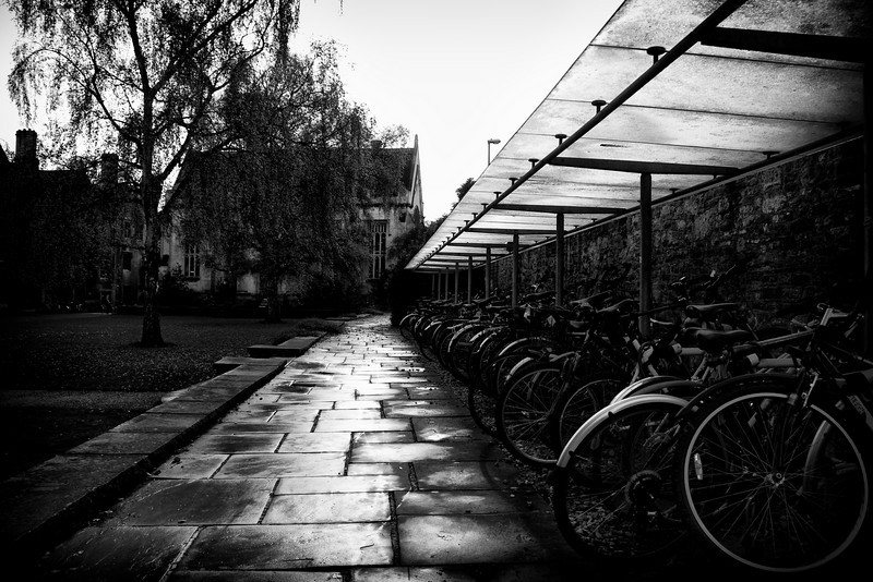 Oxford on a rainy morning.