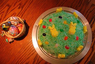 2011 04 22 & 23:  Easter Prep, Eggs, Bunny Cake
