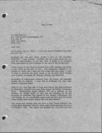 Bob Sinclair's SAABSA Scrapbook