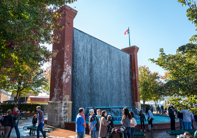 The wall of water at NC State Fair 2016