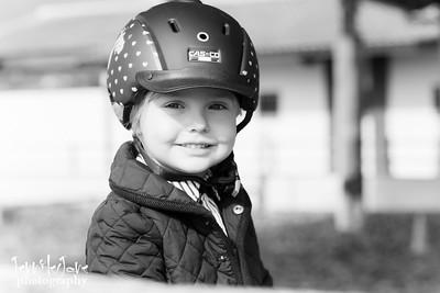 Olivia - Horse Riding, Estepona - Black and White