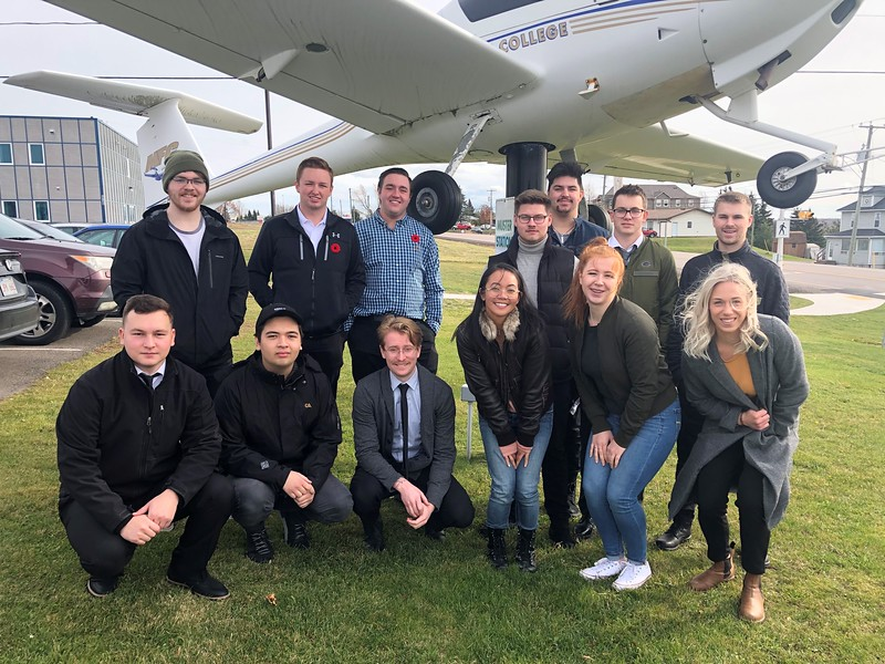 The first Life in Flight class poses at Moncton Flight College. EIC Photo
