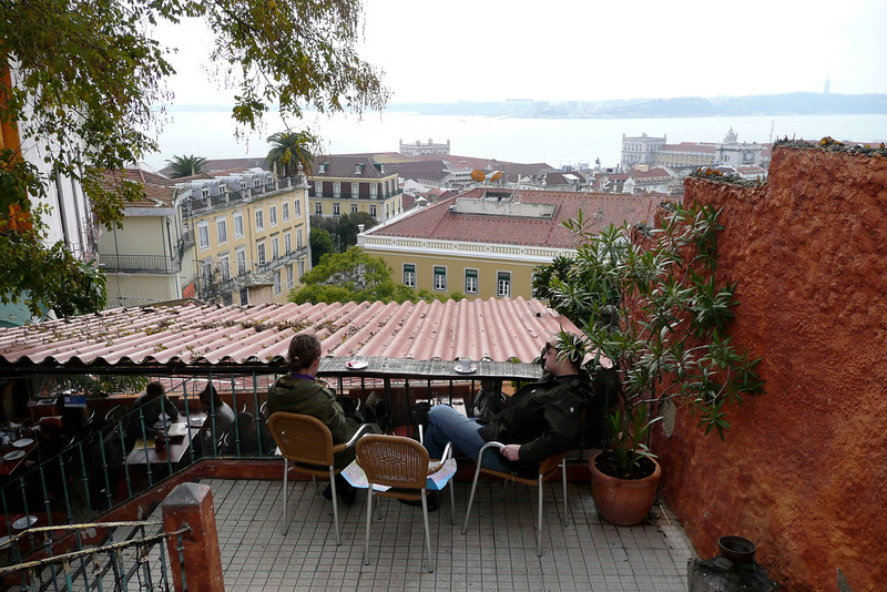 Literally Having a View over the Rooftops. Café Chapitô, Alfama, Lisbon