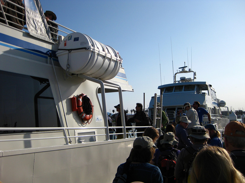 Boarding for Santa Cruz Island