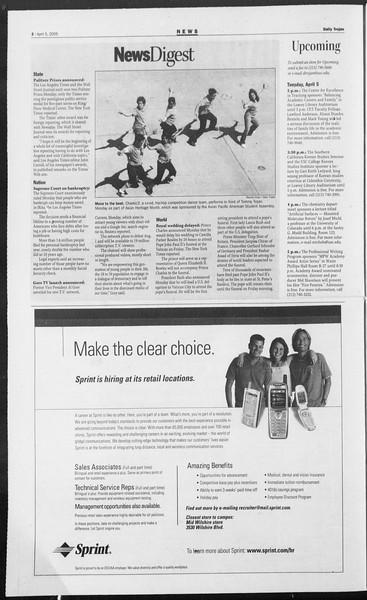 Daily Trojan, Vol. 154, No. 50, April 05, 2005