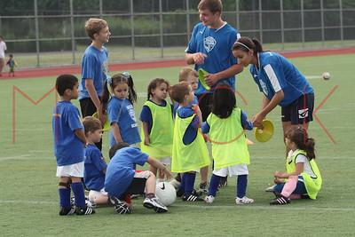 Brooklyn - July 1: Players compete at  Brooklyn Italians Soccer Academy practice at John Dewey High School on Wednesday, July 1, 2009 in Brooklyn, NY.