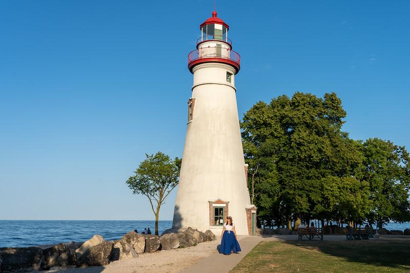 Amanda at Marblehead Lighthouse