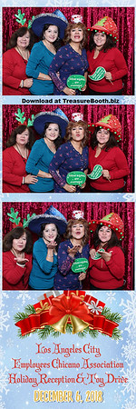 Los Angeles city employee Chicano association holiday reception and toy drive