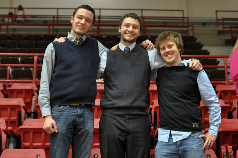 Blake look-a-likes at the Women's baketball game Friday November 9, 2012 in the LYCC.