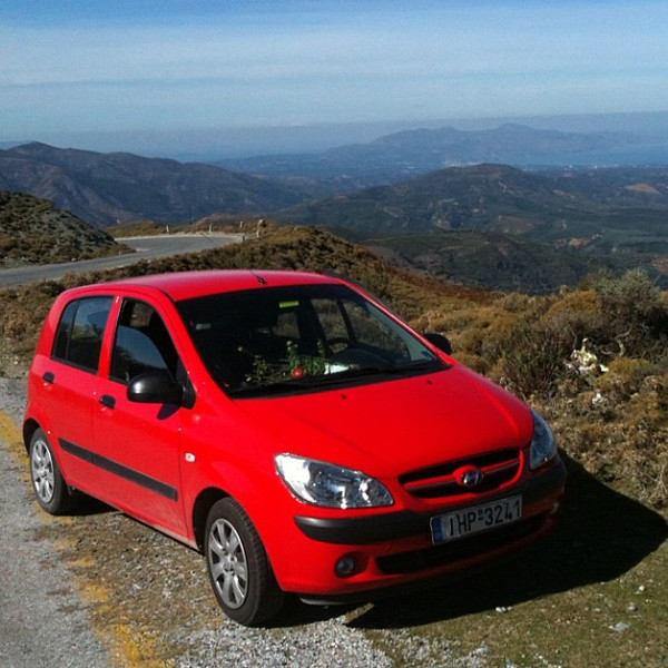 Road trip #crete style. Winding roads & great views.