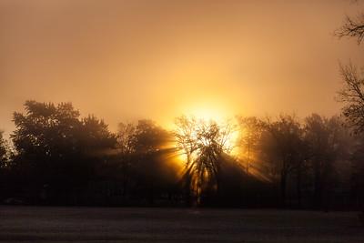 MI-Saginaw-Foggy Morning