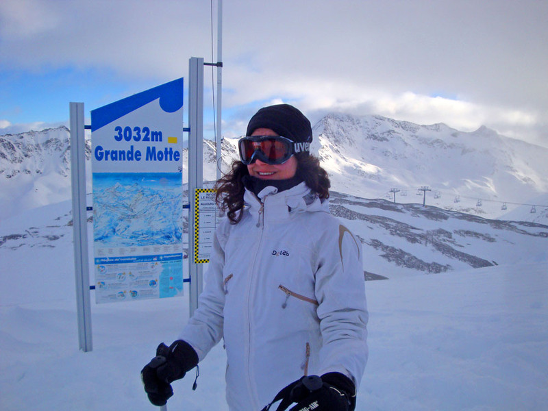 The bottom of one of two summer glacier ski areas. It was utterly freezing up here!