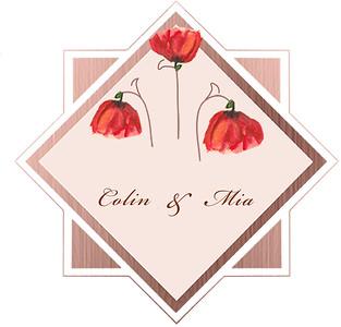 Rose Poppies Frame $2