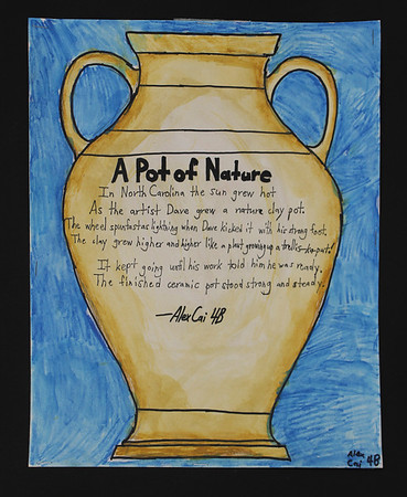 4th Grade - Dave the Potter - Poetry Pottery