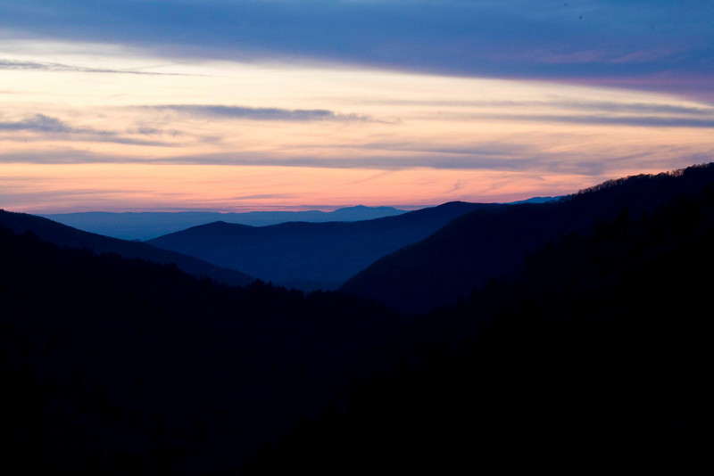 Sunset from Morton Overlook GSMNP Nov. 2009