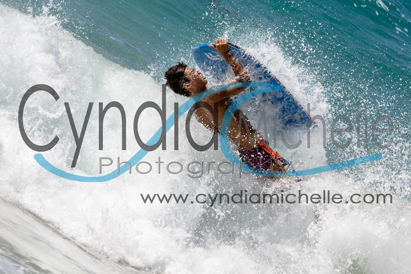 Kekai bodybording at Sandy Beach on Aug 7, 2014