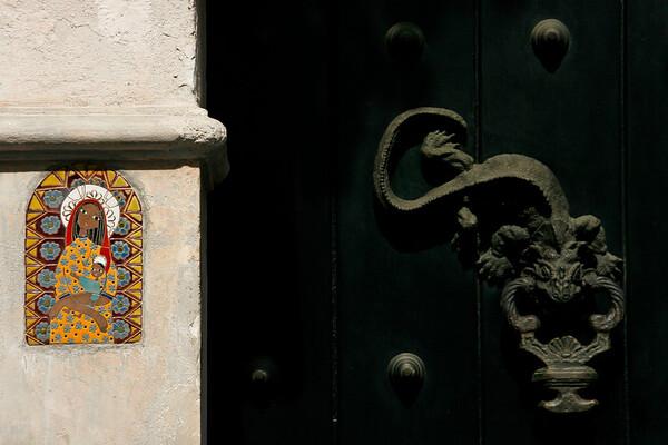 Doorway in Cartagena, Colombia