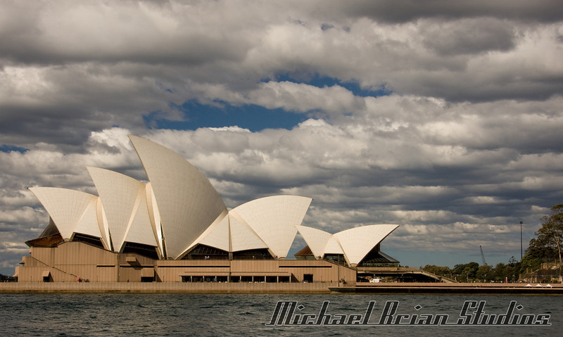 View of the Opera House from the water.