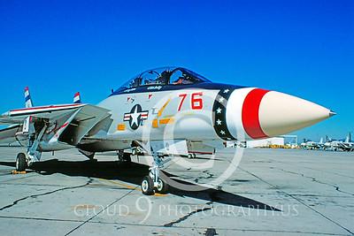 U.S. Navy F-14 Tomcat Airplanes in Bicentennial Color Scheme