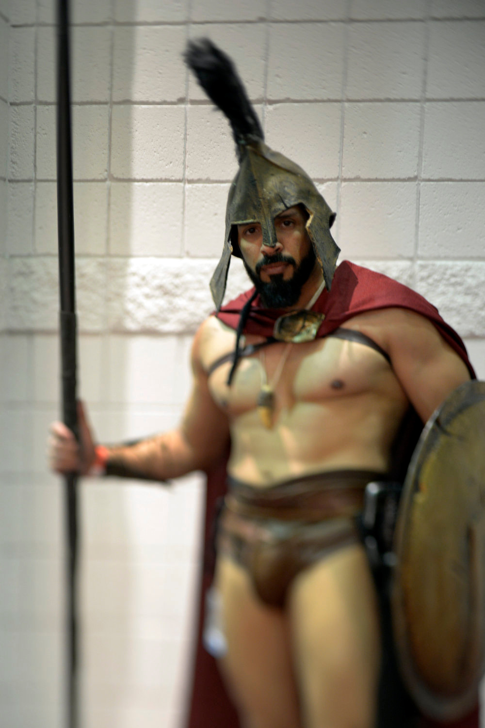 . Gabe Martinez 34-years-old poses as Leonidas as he attends the Denver Comic Con June 2, 2013 at the Colorado Convention Center. The Convention brought in more than 45,000 for the three day weekend. (Photo By John Leyba/The Denver Post)