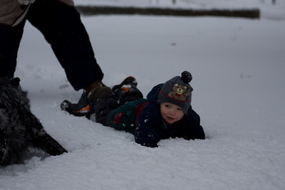 Family Snow Play