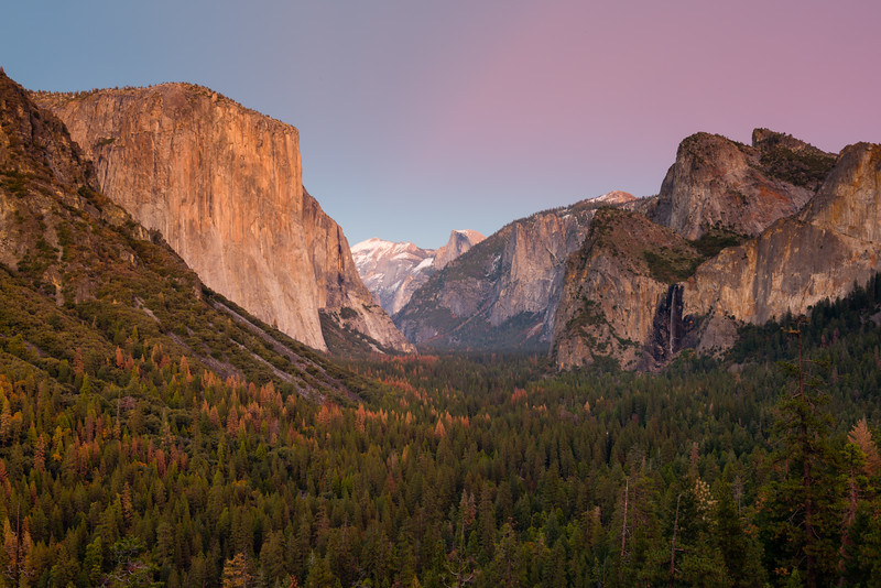 Yosemite Valley, Tunnel View Sunset