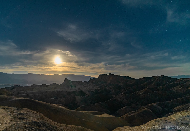 Zabriskie Point by moonlight.