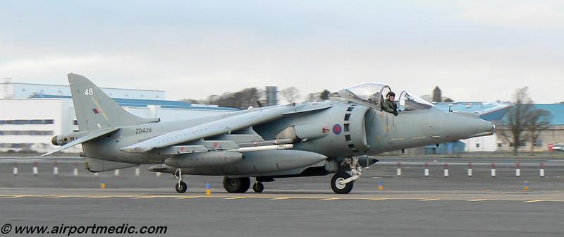 ZD436 BAe Harrier GR9A RAF @ Prestwick Airport (EGPK)