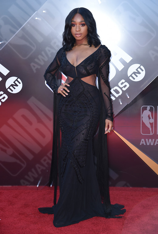 . Normani arrives at the NBA Awards on Monday, June 25, 2018, at the Barker Hangar in Santa Monica, Calif. (Photo by Richard Shotwell/Invision/AP)