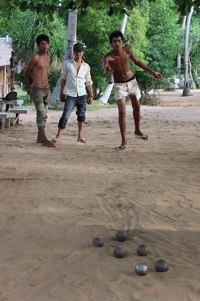 Enjoying a game of Petanque