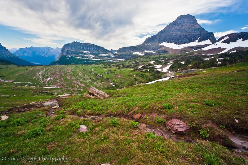 Logan Pass in Glacier National Park Montana