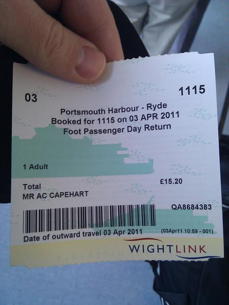 WightLink Ferry Ticket