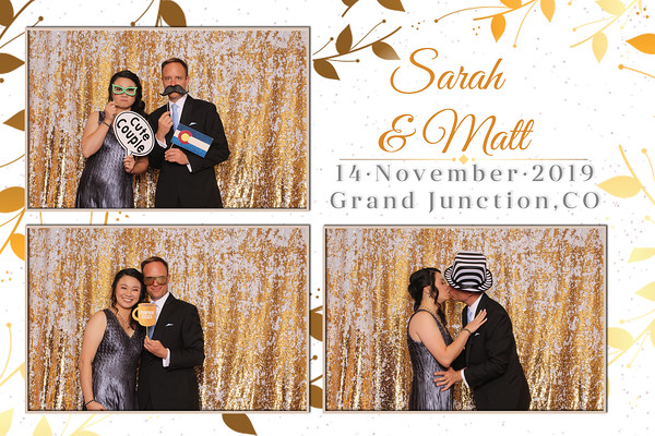 Matt and Sarah Reception Photostrips