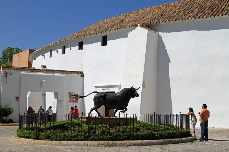 Entrance to the bullring at Ronda.