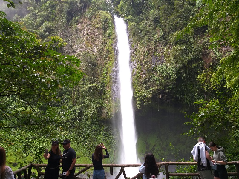 """Selfie"" Deck at La Fortuna Waterfall"