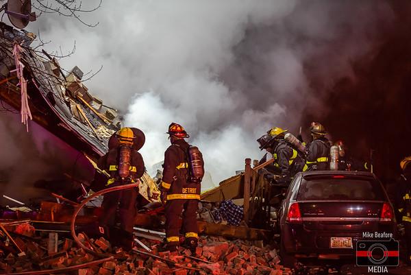 Detroit MI, House Explosion 1-4-2020