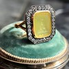 'Faithful & Firm' Yellow Chalcedony Ring, by Seal & Scribe 41