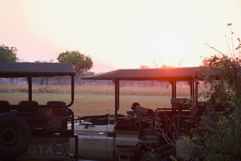 early morning sunrise, Shinde camp, Botswana