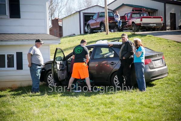 Car Crashes Into House On Ceder Grove Road 04-01-15