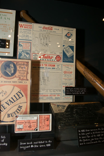 Scorecard from Babe Ruth's last game with the Yankees (v. Washington Senators, Sept 30, 1934) -- A trip to the Baseball Hall of Fame, Cooperstown, NY, June 2014