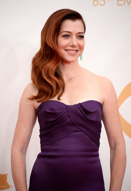 . Actress Alyson Hannigan arrives at the 65th Annual Primetime Emmy Awards held at Nokia Theatre L.A. Live on September 22, 2013 in Los Angeles, California.  (Photo by Frazer Harrison/Getty Images)
