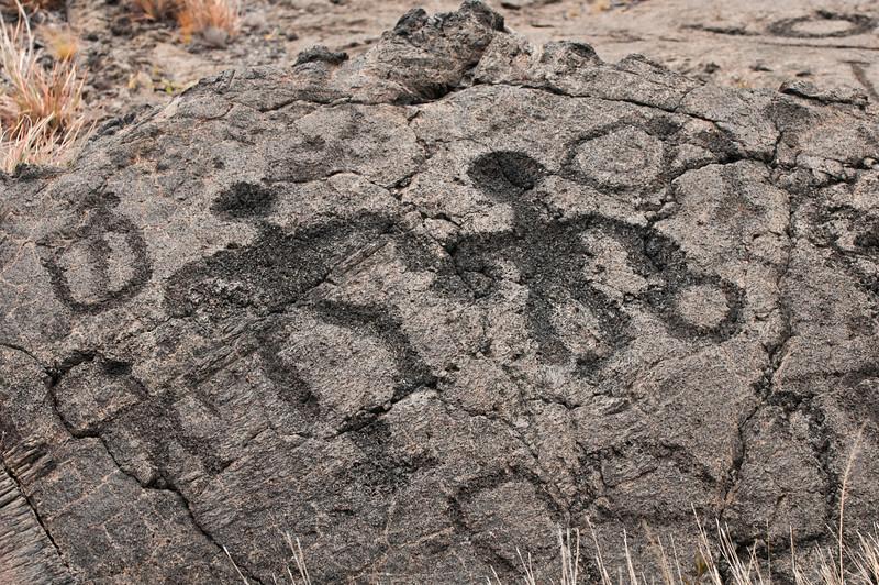 Petroglyph Holding Hands
