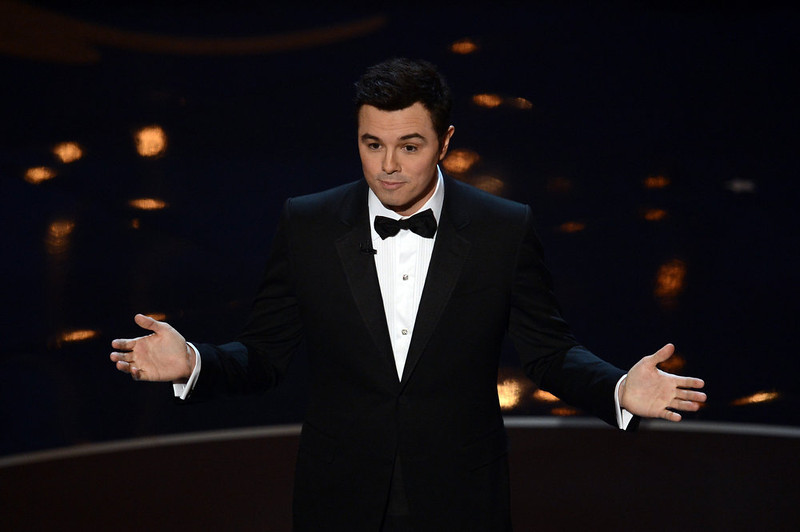 . Host Seth MacFarlane speaks onstage during the Oscars held at the Dolby Theatre on February 24, 2013 in Hollywood, California.  (Photo by Kevin Winter/Getty Images)